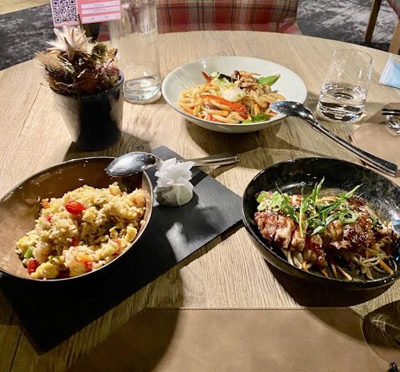 ein Teil des Abendessens von unserem Aufenthalt / Foto Jela
