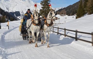 Romantische Kutschenfahrt in Davos