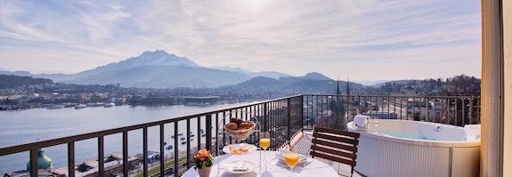 Romantisme sur les toits de Lucerne