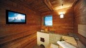 Sauna mit Pulverschnee-Ausblick: Bild 18