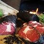 Asche Ribeye-Steak