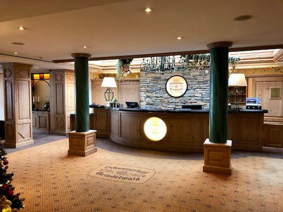 Empfangsbereich Romantik Hotel Schweizerhof (Bild Sylvia)