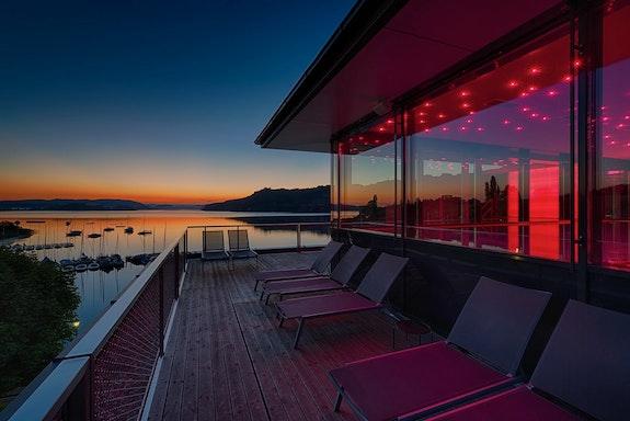 Ausblick vom Hotel Seewirt auf den Mattsee