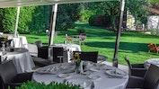 Restaurant-Terrasse mit schönem Garten: Bild 13