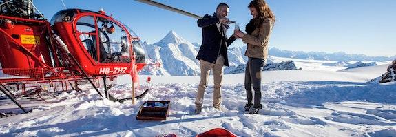 Helikopterflug , Gletscherlandung & Victoria-Jungfrau
