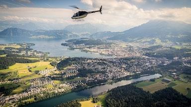 Helikopterflug über die Alpen: Bild 1