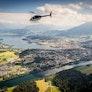 Helikopterflug über die Alpen