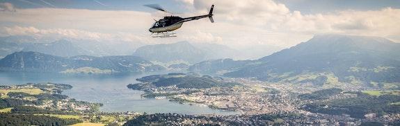 Vol en hélicoptère Pilatus & Rigi