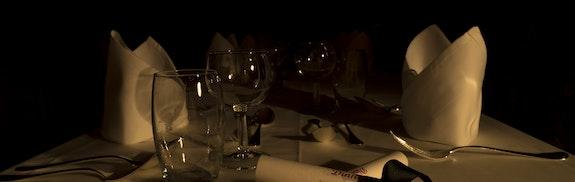 Dinner in the dark in Grindelwald